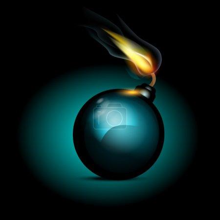 Illustration pour Icône de bombe vectorielle, illustration vectorielle - image libre de droit