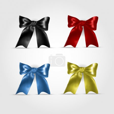 Photo for Set of colorful bows - Royalty Free Image