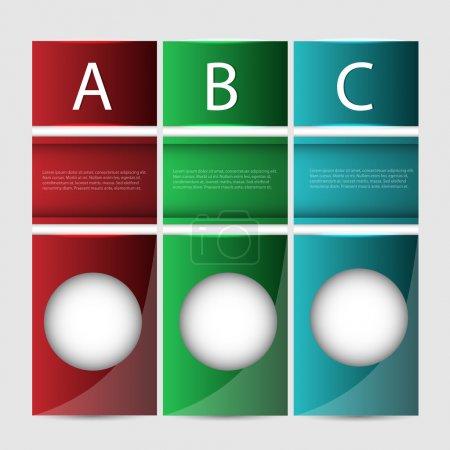 Bannières de progression du vecteur Abc