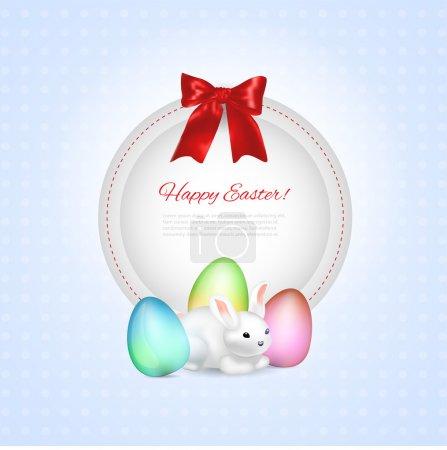 Illustration pour Cadre de vœux de Pâques, illustration vectorielle - image libre de droit
