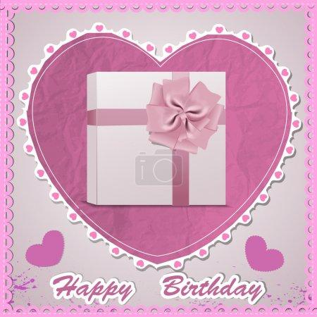 Happy birthday Card. Vector Illustration