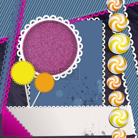 Illustration pour Scrapbook éléments, illustration vectorielle - image libre de droit