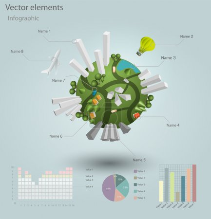 Photo for Infographics Industrial buildings and residential areas. Vector illustration. - Royalty Free Image