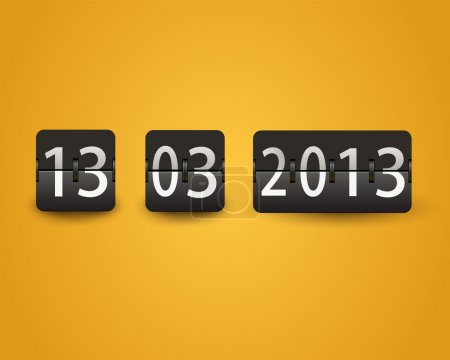 Countdown timer, date,  vector illustration