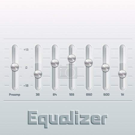 Music equalizer with mixing console.