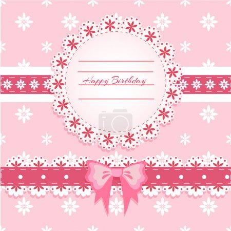 Vector birthday card,  vector illustration