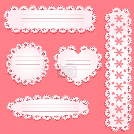 Photo for Vector set of paper laces - Royalty Free Image