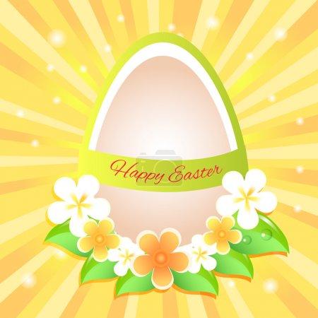 Illustration pour Joyeux vœux de Pâques. Vecteur - image libre de droit