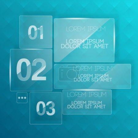 Photo pour Arrière-plan avec plaques de verre transparent . - image libre de droit