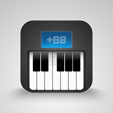 Vector Piano Keyboard Icon.