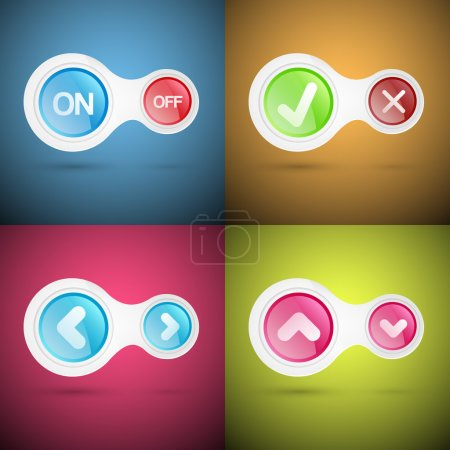 Illustration for Vector set of buttons. - Royalty Free Image