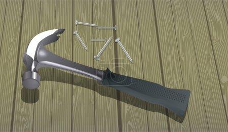 Vector illustration of a hammer.