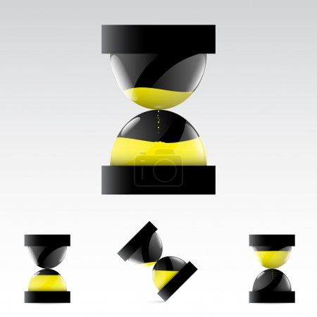 Vector sand glass symbols