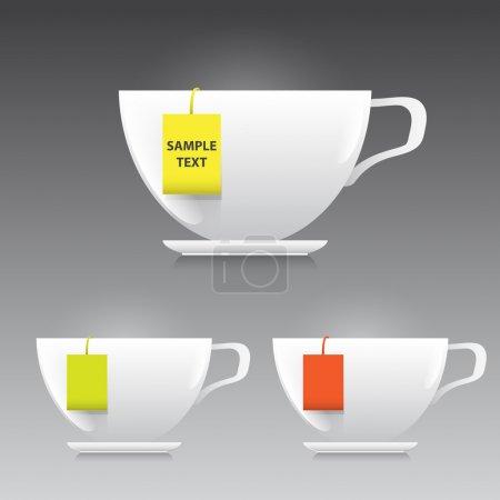 Vector cup of tea illustration