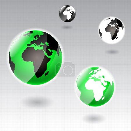 Set of Earth globe icons