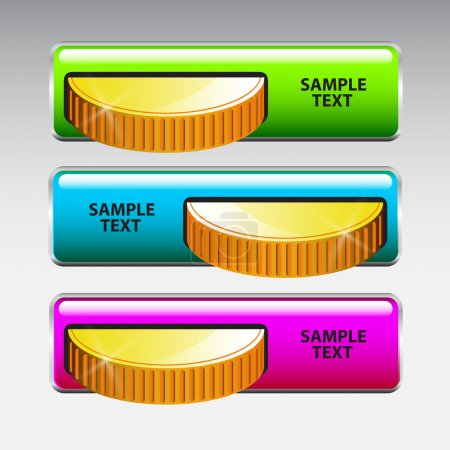 Inserting coin in machine. Vector