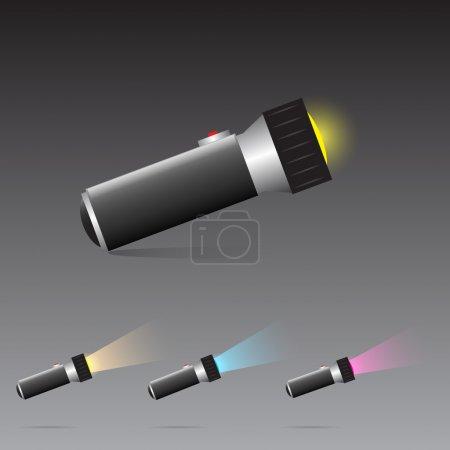 Lampe de poche vectorielle. illustration vectorielle