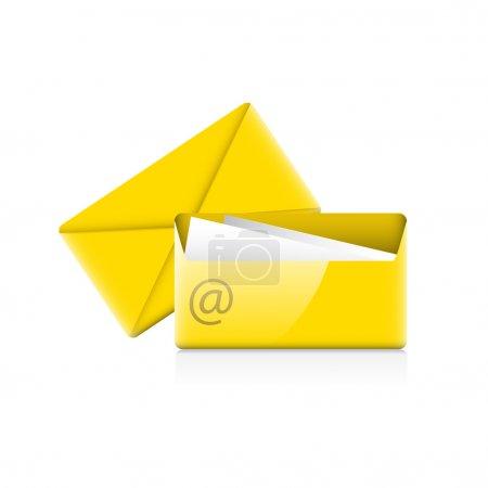Illustration pour Icône des enveloppes. Illustration vectorielle . - image libre de droit