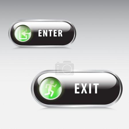 Illustration pour Signes vectoriels d'entrée et de sortie - image libre de droit