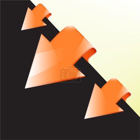 Illustration pour Jeu d'autocollants flèche vectorielle . - image libre de droit