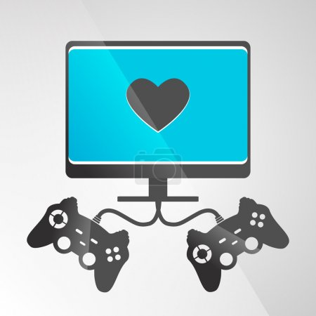 Video game console. Vector