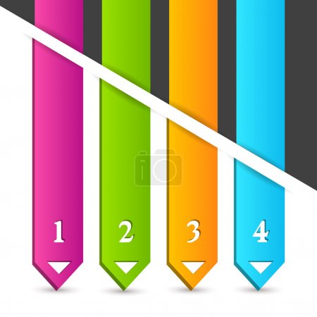 Illustration for Color vector arrows vector illustration - Royalty Free Image