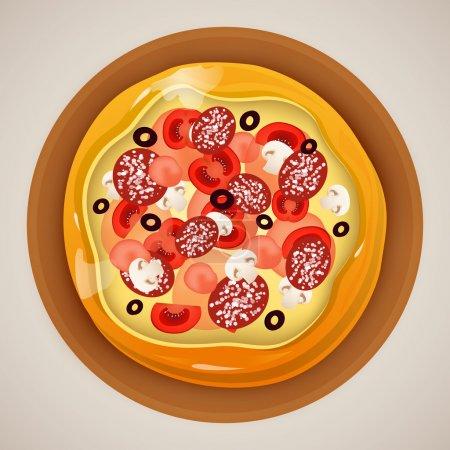 Illustration pour Illustration vectorielle de pizza illustration vectorielle - image libre de droit