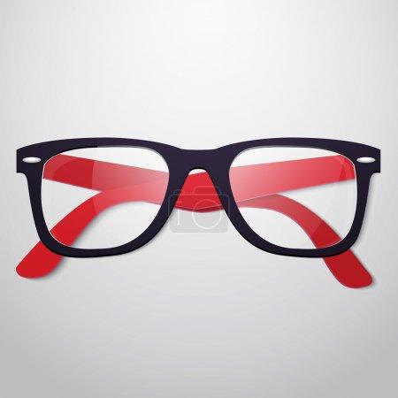 Retro vector glasses vector illustration