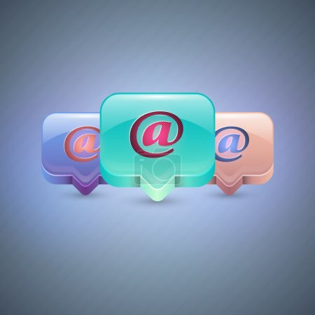 Illustration for Vector e-mail icons - Royalty Free Image