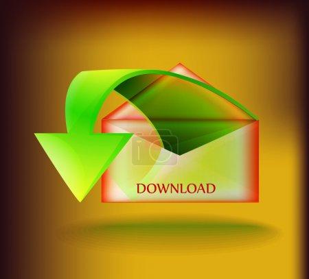 Vector download button vector illustration