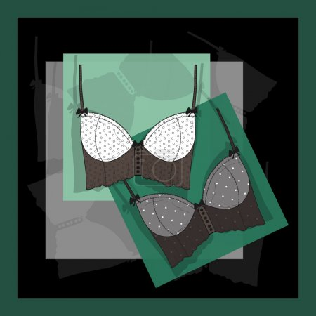 Lingerie card. vector illustration