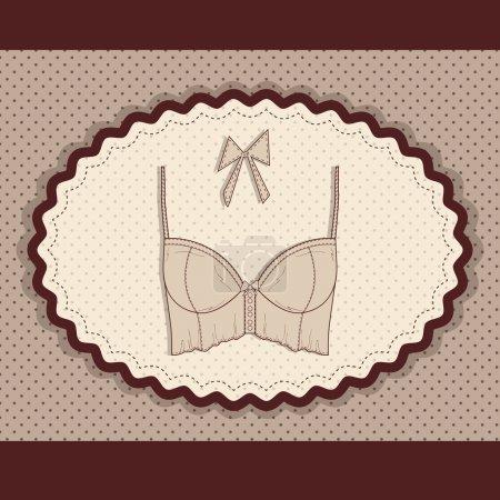 Illustration pour Carte de lingerie. illustration vectorielle - image libre de droit