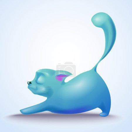 Cute vector cat vector illustration