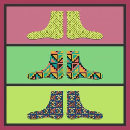 Illustration pour Illustration vectorielle de carte de chaussettes vectorielles - image libre de droit