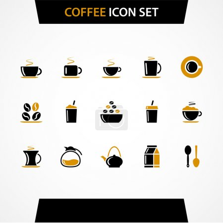 Vektor Kaffee Icons Set.