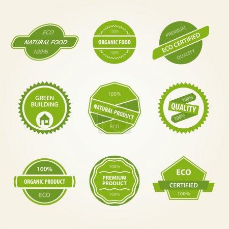 Conjunto de etiquetas vectoriales orgánicas