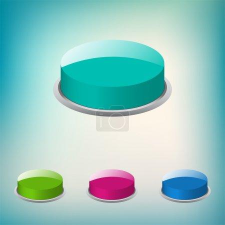 Illustration pour Ensemble de boutons ronds vectoriels - image libre de droit