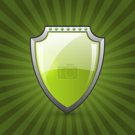 Photo for Green eco shield vector illustration - Royalty Free Image