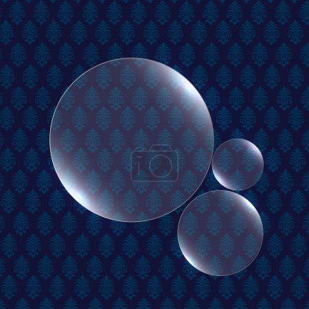 Shiny vector bubbles vector illustration