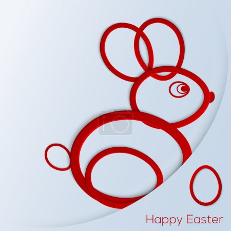 Photo for Happy easter bunny vector illustration - Royalty Free Image