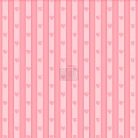 Illustration pour Modèle de coeur sans couture Valentine - image libre de droit