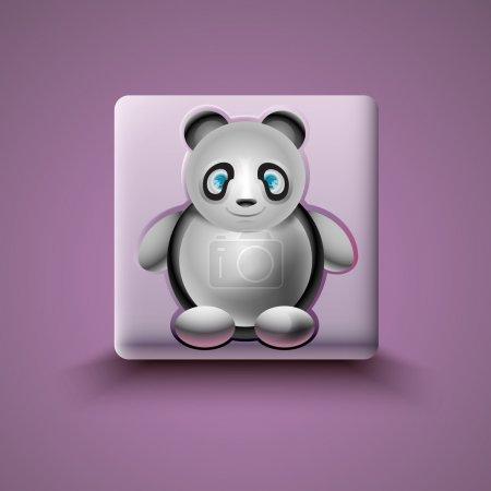 Illustration pour Panda icône vectoriel illustration - image libre de droit
