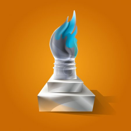 Illustration for Ancient torch vector illustration - Royalty Free Image
