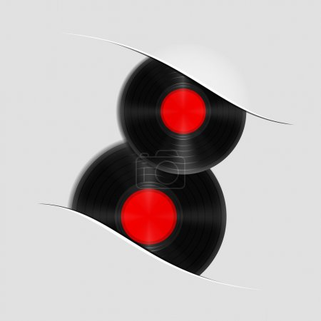 Two vector vinyl records