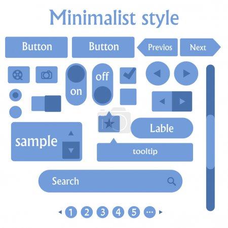 Illustration pour Vecteur de conception minimaliste du site - image libre de droit