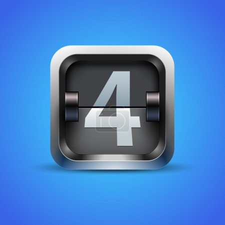 Illustration for Number 4 from mechanical scoreboard alphabet - Royalty Free Image