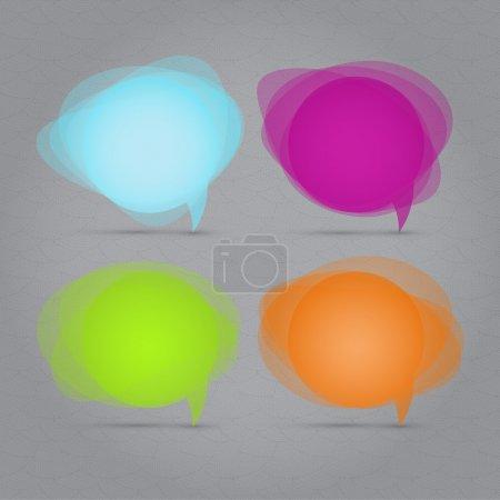 Vector set of speech bubbles.