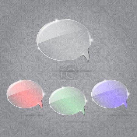 Illustration pour Ensemble vectoriel de bulles vocales. - image libre de droit