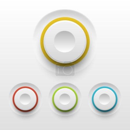 Illustration pour Boutons vectoriels sur fond blanc - image libre de droit