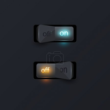 Photo for On and off switch - Royalty Free Image